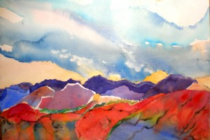 Sun over Purple Hills